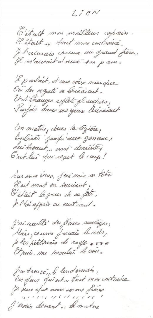 Poeme sur une rencontre inattendue